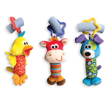 New Arrival !!! 1Pcs Infant Baby Cartoon Toys Rattle Plush Tinkle Hand Bell Toy Multifunctional Stroller Rattle Bell K5BO(China (Mainland))