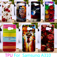 Buy Soft TPU Phone Case Samsung Galaxy A3 2016 SM-A310 A310 A3100 A310F SM-A3100 SM-A310F Colorful Hard Back Cover Hood Housing for $2.58 in AliExpress store