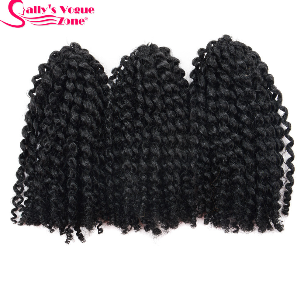 8Inch 3pcsset Crochet Braids Marlybob Hair Synthetic Kinky Twist Curly Crochet Braiding Hair Extensions Jumbo Twist Hair Styles (16)_