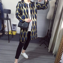 winter 2015 Women gilding leopard Pattern Knitted Loose Sweater Bronzing Sweater Coat gold stamp Long Sleeve Cardigan Sweater(China (Mainland))