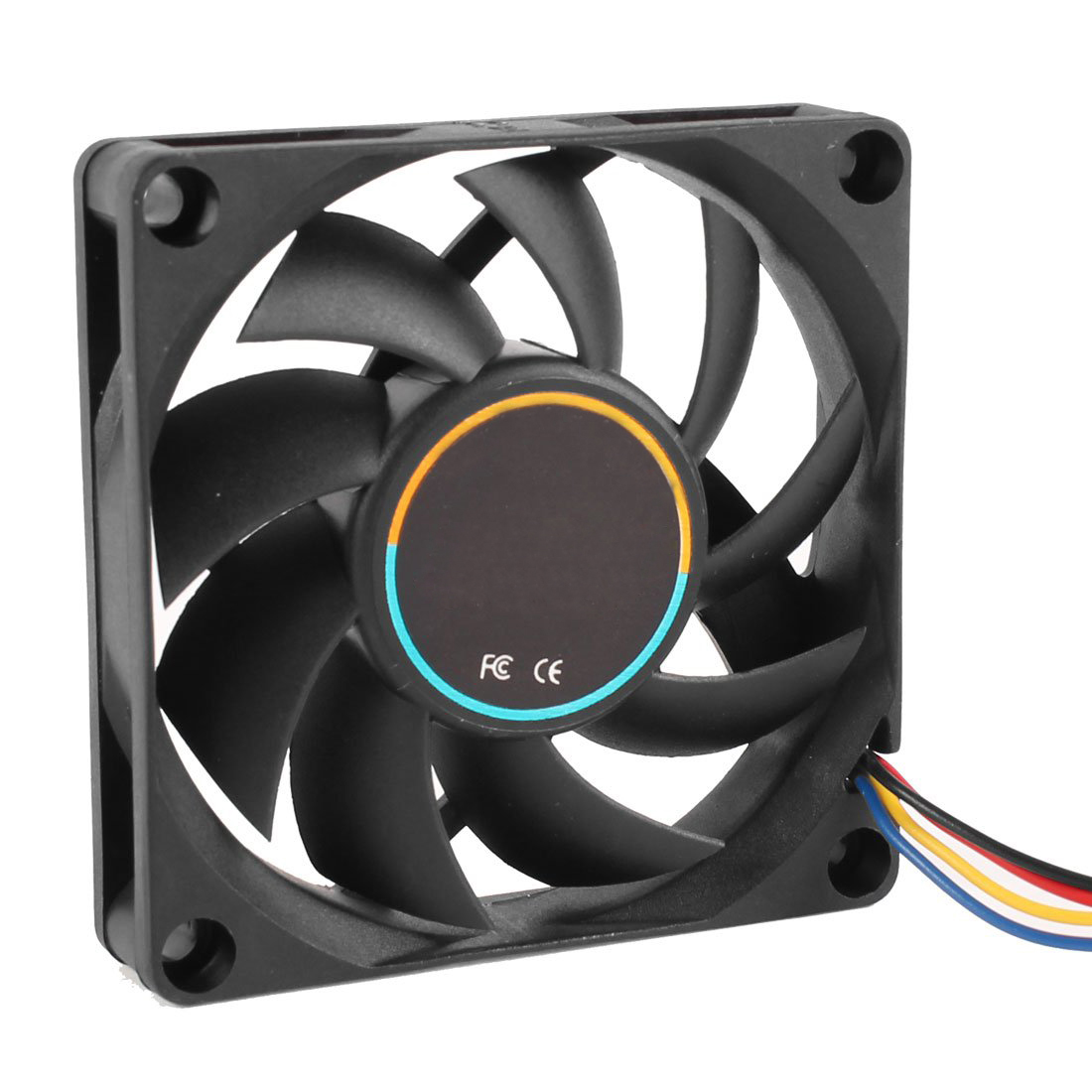 GTFS Hot 70mmx15mm 12V 4 Pins PWM PC Computer Case CPU Cooler Cooling Fan Black(China (Mainland))