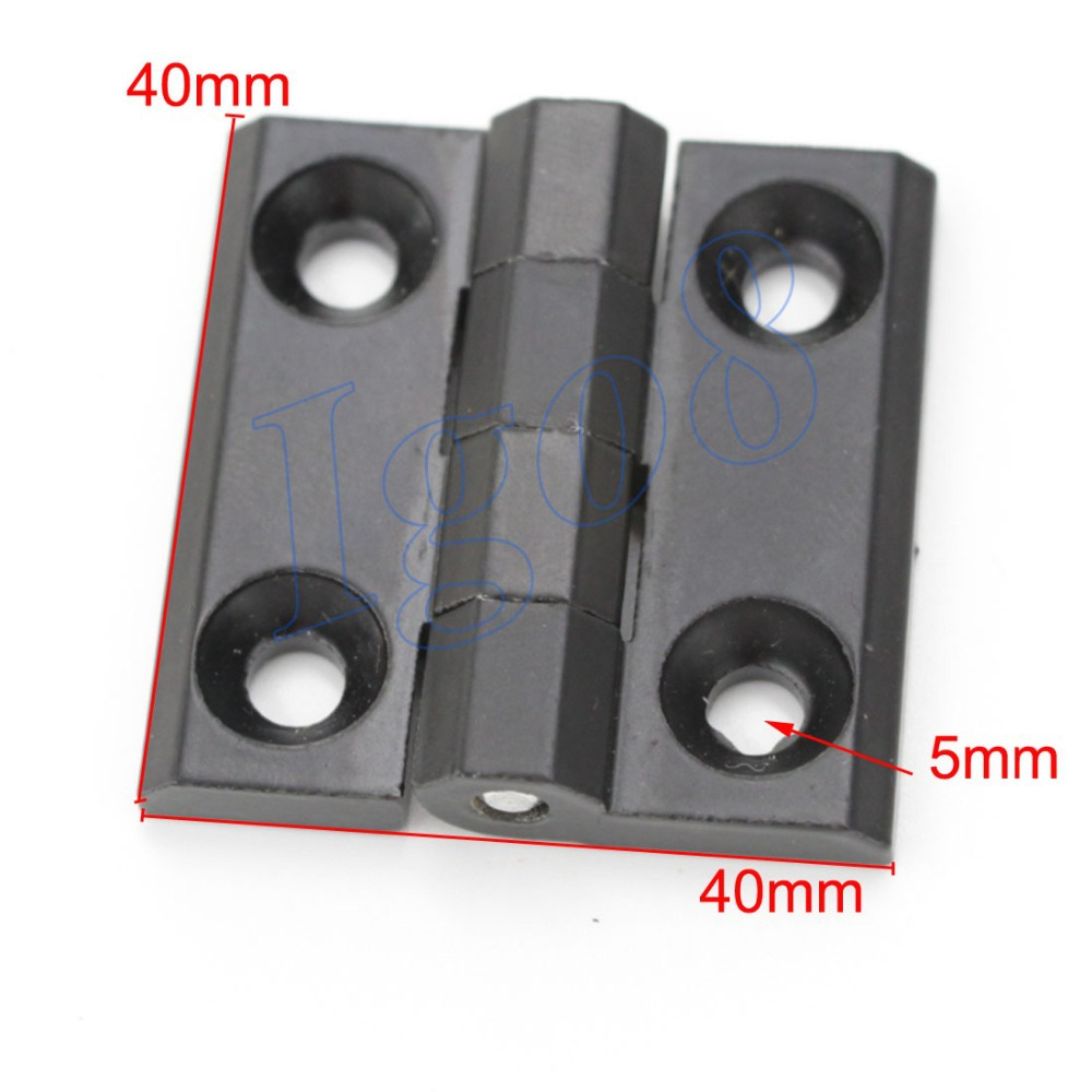 4PCS 5mm Mount Hole Zinc Alloy Closet Cabinet Door Butt Hinge Black 40mm x 40mm(China (Mainland))