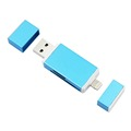 3 in 1 i Flash USB SDHC Micro SD OTG Memory Card Reader Writer for iPhone