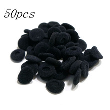 New Black  50pcs Soft 18mm Replacement Ear Pad Bud Foam Earbud Cover For Earphones