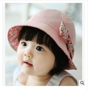 summer spring autumn sun hat Korean pop princess wild sun visor can be double-sided wear cotton baby girls hat(China (Mainland))