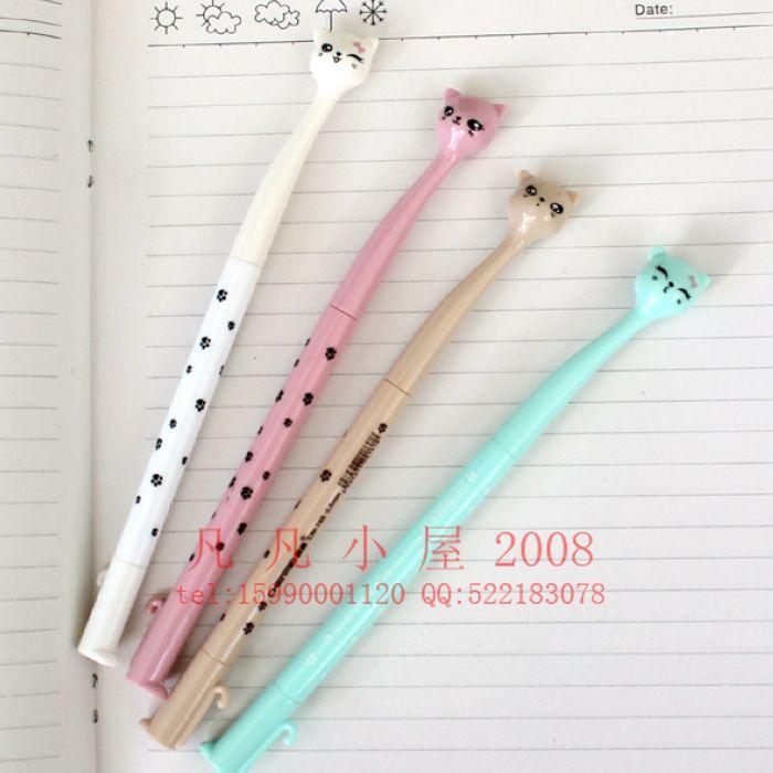Wholesale ,free shipping,Meng cat shape gel pen/kids Writing instruments/cartoon signing pen/stationery 0.5mm<br><br>Aliexpress