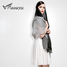 [VIANOSI] Fashion Tassel Shawls and Scarves Gradient Color Design hijab High Quality Silk Scarf Luxury Brand Package VA027(China (Mainland))