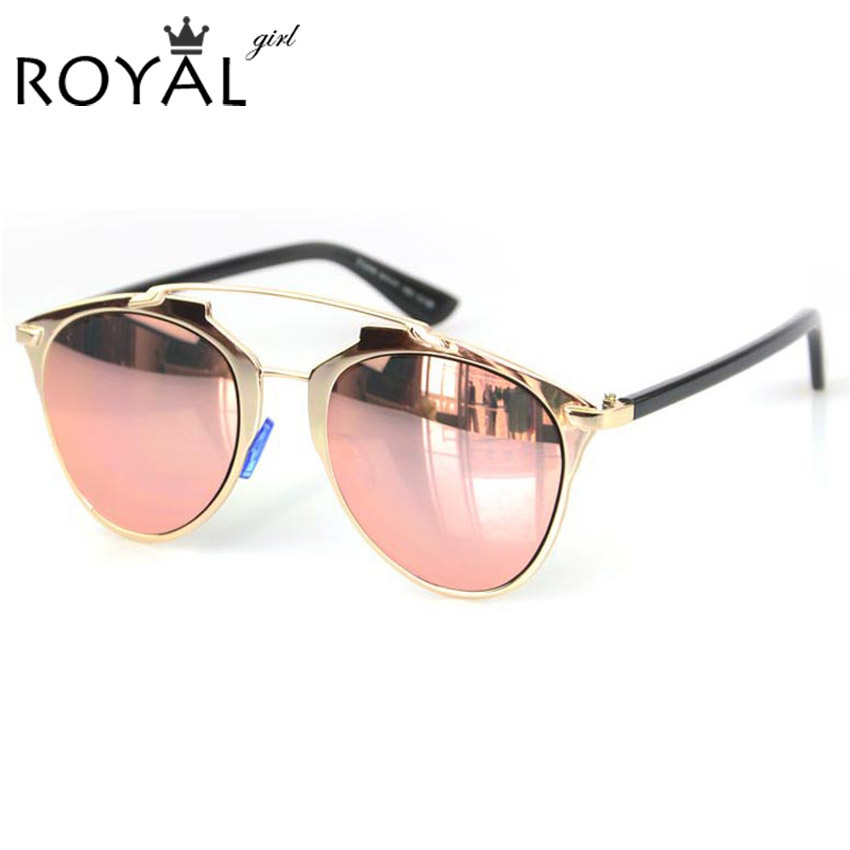 New Brand Designer Women Sunglasses Metallic Frame Reflective Mirror Glasses Shades Vintage Cat Eye Sun Glasses ss398(China (Mainland))