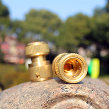 1/2inch Brass Quick Coupling Connector With Waterstop Tap Connector For Garden Irrigation HF31532(China (Mainland))