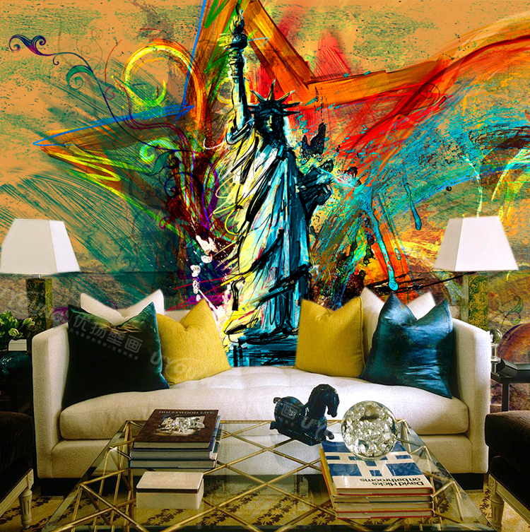 A large mural wallpaper wallpaper retro style personality for Mural wallpaper vintage