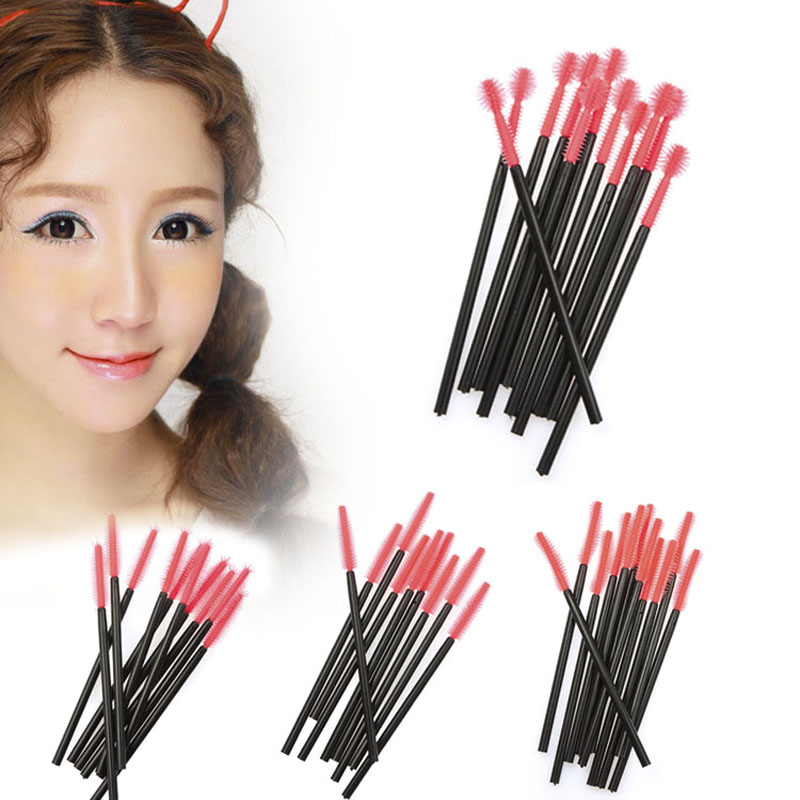 50pcs Makeup Cosmetic Disposable Eyelash Brush Mascara Wand Applicator Kit F#OS(China (Mainland))