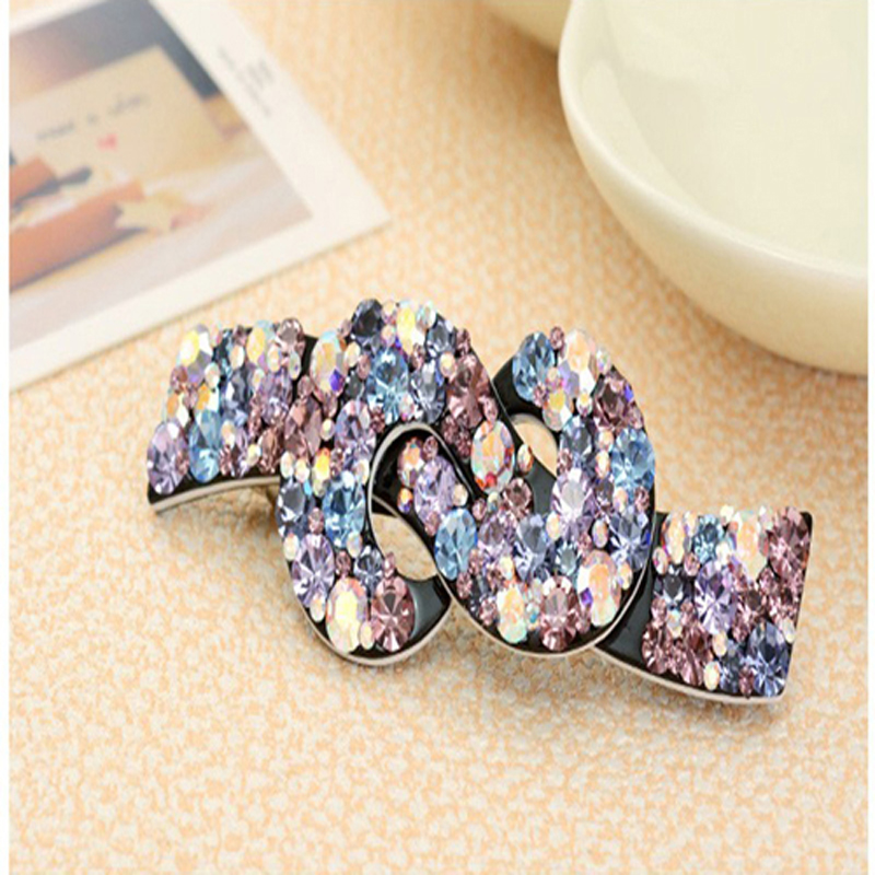 Rhinestones Hair Barrette Crystal Hair Clips Korean Luxury Hairgrip Designe Hair Accessories for Women Clips 2016 Jewelry(China (Mainland))