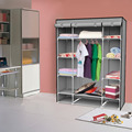 Clothe storage wardrobe simple portable cloth closet new fashion sundries storage cabinet dust proof clothes wardrobe