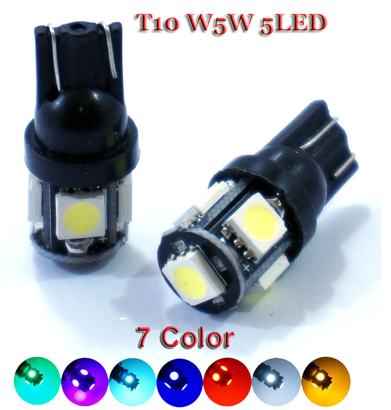 PROMOTIONG!!! HOT SELLING!!! 20pcs T10 5 SMD 5050 LED 194 168 W5W Car Side Wedge Tail Light Lamp Bulb(China (Mainland))