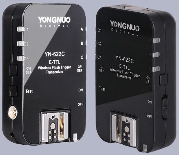 Фотография Yongnuo YN-622C Wireless ETTL HSS 1/8000S Flash Trigger Transceivers for CN 1100D 1000D 650D 600D 550D 7D 5DII 40D 50D