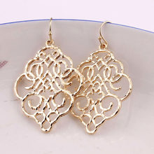 ZWPON New Gold Filigree Morocco Dangle Earrings for Women Fashion Jewelry Zinc Alloy Basic Statement Earrings Wholesale 2018(China)