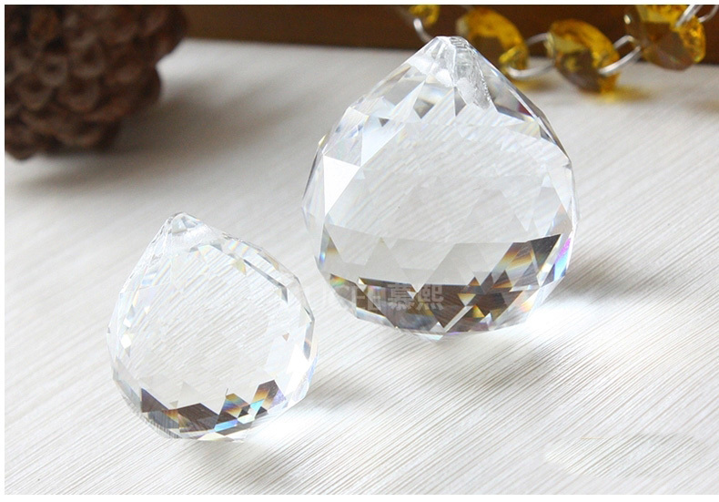 10pcs/lot 20mm Transparent Crystal Hanging Faceted Ball Crystal Pendants For Chandeliers Hot Sale Beautiful Glass Lighting Parts(China (Mainland))