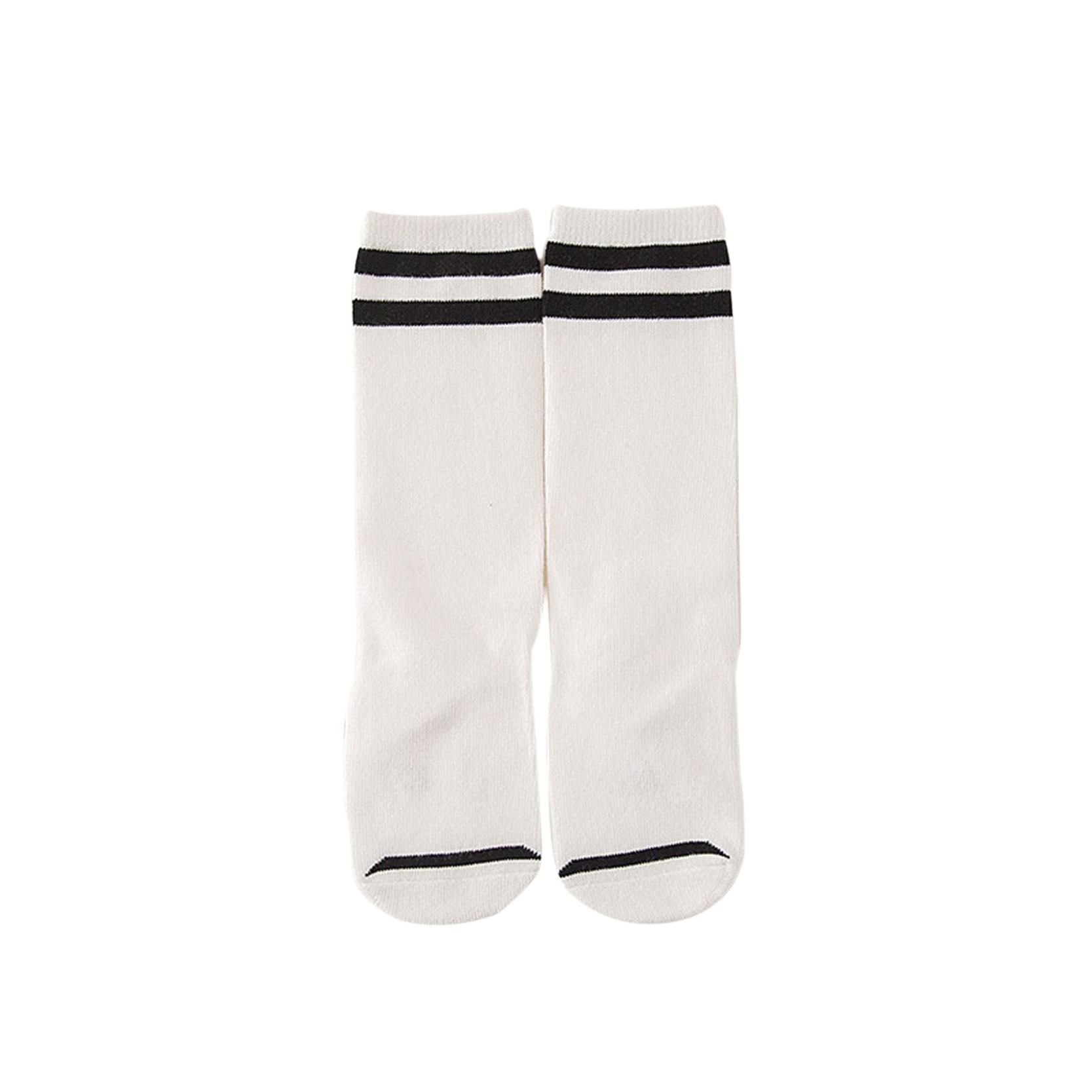 Striped Cotton Sport Kids Socks For Baby Girls Boys School Knee High Socks Leg Warmers Toddler 0-3 Years Clothing Accessories