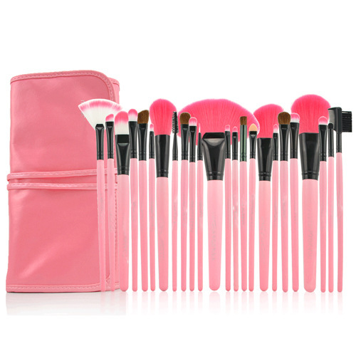 2015 Hot Professional Make up Brush Set Pink Makeup Brushes 24PCS/Set Including a Deluxe Carrying Case<br><br>Aliexpress