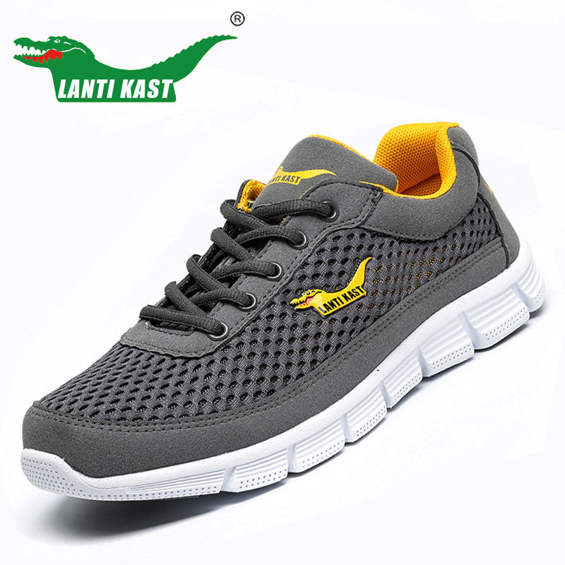 Size 37-46 Mens Comfortable Breathable Mesh Shoes Fashion Casual Nets Cool Flats Men Shoes Lightweight Men Casual Shoes(China (Mainland))