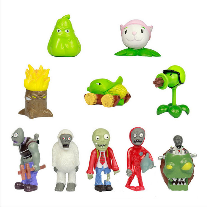 10pcs/lot New Boy Hot Game Peripherals Action Figure Toys Lovely Plants Corn and Corpse Doll Collection Hot Game Figures Toy(China (Mainland))
