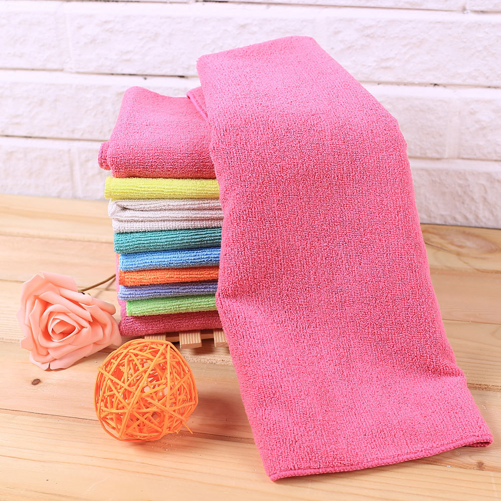 Floor cleaning cloth 5pcs 30*80cm Rose color microfiber cloth towel Rag without detergent By SGS certificate,have patent(China (Mainland))