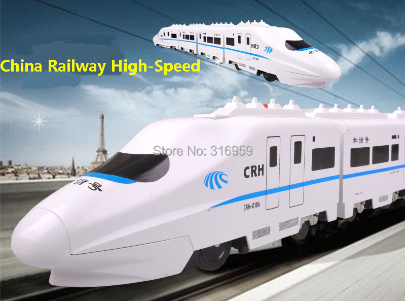 New CRH RC Train China Railway High-Speed Long Radio Control trains Electronic Motor with Music Action train Toys(China (Mainland))