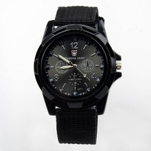 Buy Hot New Hot Sale Military Quartz Sport Watch Canvas Strap Fabric Fashion Soldier Ourdoor Running Wristwatch Clock 2 colors for $5.18 in AliExpress store