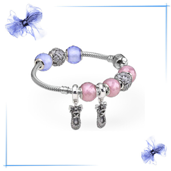 Authentic Bracelet fits for pandora bracelet 19CM with original sterling silver european charms BR5004-19<br><br>Aliexpress