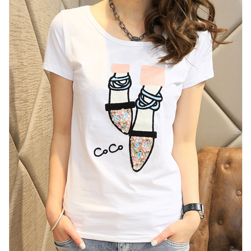 buy summer style tshirt tops tees 2015 t shirt women t shirt vetement femme. Black Bedroom Furniture Sets. Home Design Ideas