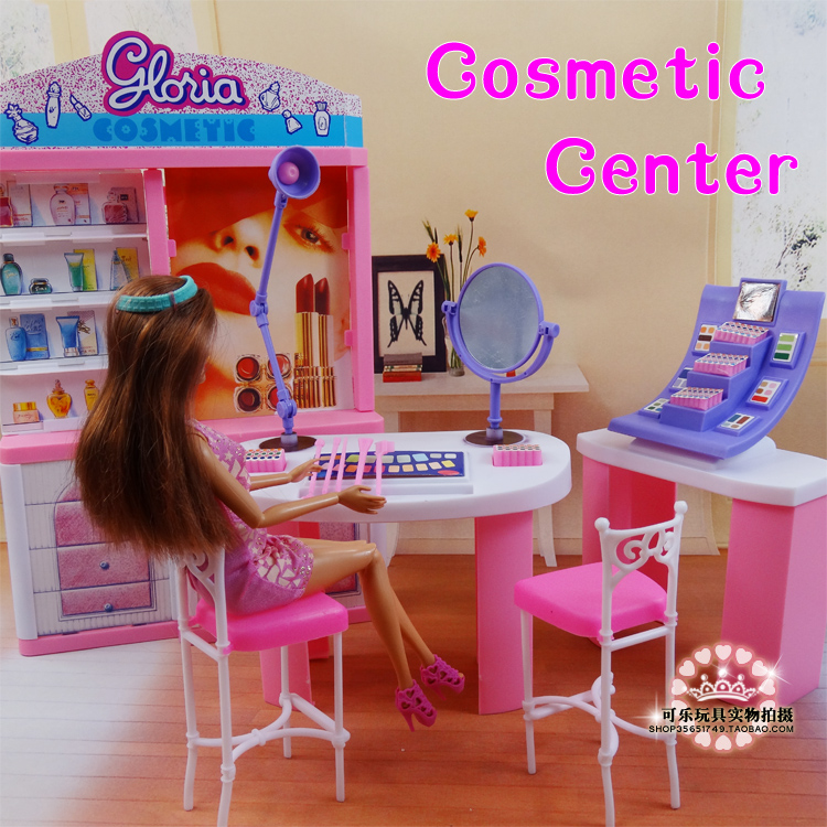 Pink Dream makeup Center dressing room for barbie doll 1/6 doll accessories doll furniture girls baby DIY toys(China (Mainland))