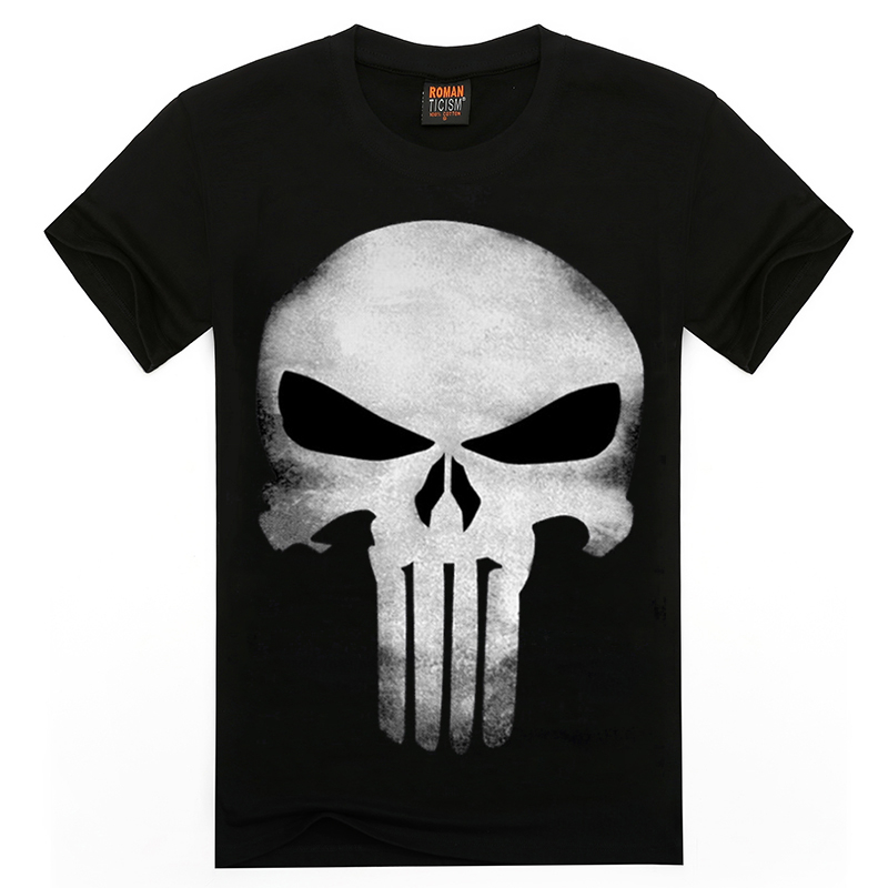 3D T Shirt Men Plus Size Cotton Tops Tee Skull Printed Short Sleeve Cotton T-shirt Men Hip Hop Sport Camisetas Brand Clothing(China (Mainland))