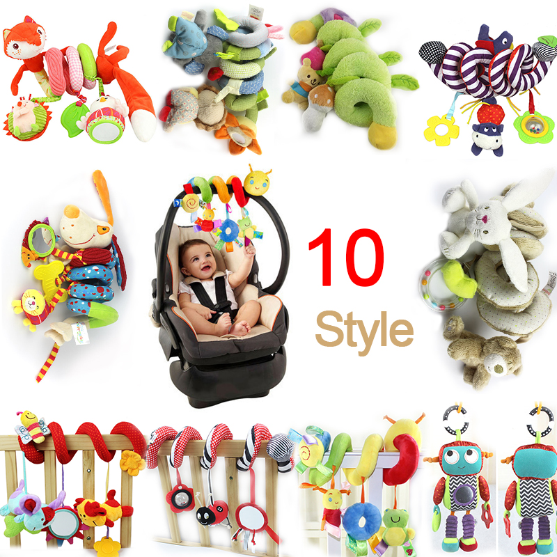 2016 NEW Infant Toys Musical Soft Plush Rabbit And Bear Baby Rattle Hanging Toy Stroller Star Hanging Rattle Mobile Baby Toys(China (Mainland))