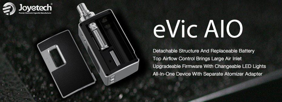 ถูก 5ชิ้นของแท้100% Joyetech eVic AIOชุด75วัตต์อิเล็กทรอนิกส์ชุดบุหรี่3.5มิลลิลิตรเครื่องฉีดน้ำทั้งหมดในหนึ่งeVic AIOชุด