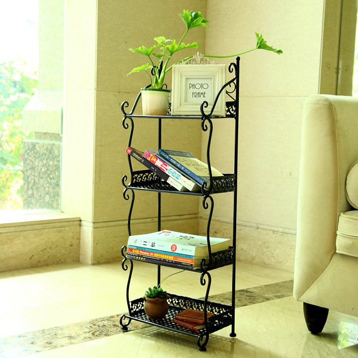 Iron Iron creative home minimalist shelf C Shelf multi-floor bedroom wall shelves storage shelf<br>