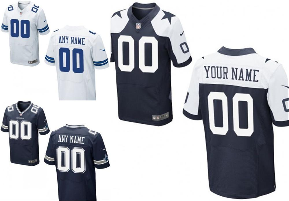 100% stitched Dallas Cowboys Personalized Embroidery Logos Customized Any Name And Number Men Women youth size S to 3XL(China (Mainland))