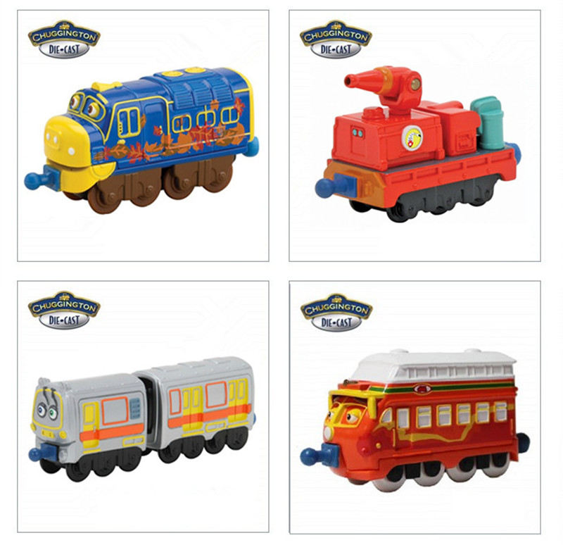 4pcs/lot LEARNING CURVR Chuggington trains Railway Tractor toy cars baby toys diecast train Scale tomy DIY Model toy(China (Mainland))