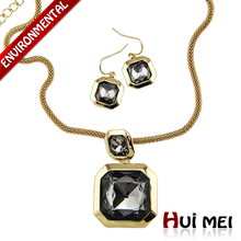 New Arrival Gold/Silver Plated Engagement Zircon Stone Vintage Earrings & Choker Necklace Sets(China (Mainland))