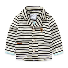 2016 next new baby girls outerwear&coats kids coats fashion Korean trench striped V-neck children clothing