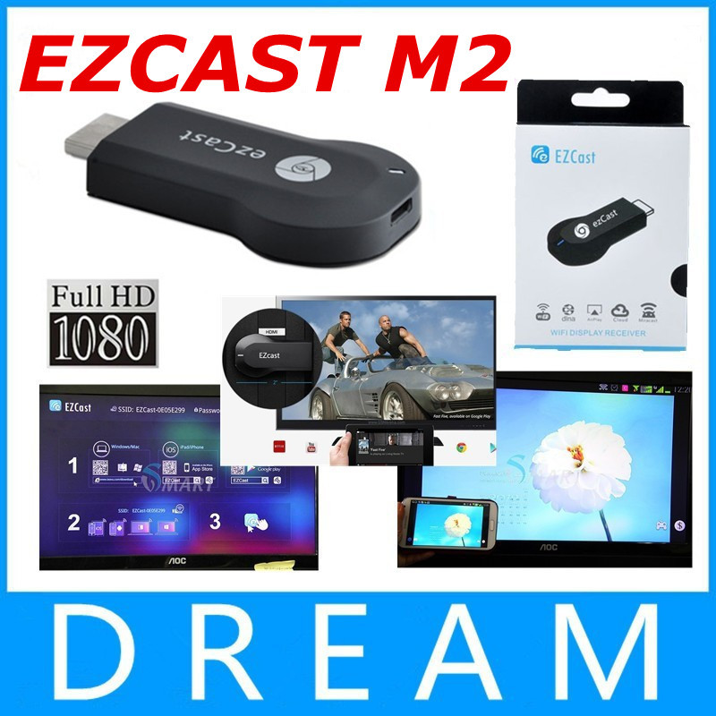 New EzCast M2 Miracast Dongle TV stick DLNA Miracast Airplay MirrorOP for windows ios andriod not android tv box(China (Mainland))