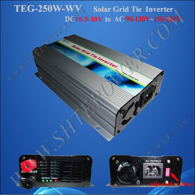 solar grid tie inverter 250w ,dc to ac power inverter on the pv system,pure sine inverter 250w(China (Mainland))
