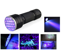 3AAA Aluminium Invisible Blacklight Ink Marker 21LED 21 LED UV Ultra Violet Flashlight Torch Light Lamp(China (Mainland))