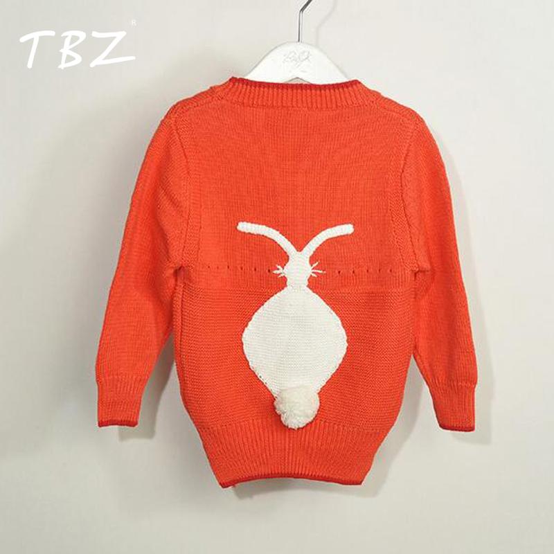 TBZ Girls Cardigan Children Clothing Sweaters Rabbit 2016 Boys Girls Sweater Cotton Knitwear Winter Infant Sweater Kids Clothes(China (Mainland))