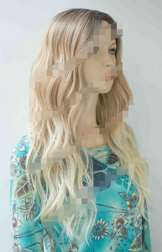 0000120 Ombre Brown to Blonde Vavy Hi-Quality Heat Friendly Small lace front long Wig<br><br>Aliexpress