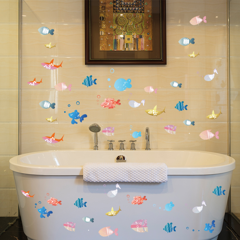 Aqua bathroom decor