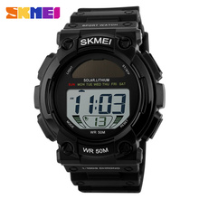 Fashion Outdoor Solar Power Sports Watches Men LED Digital Watch Male Clock Casual Men's Wristwatches Relogio Masculino(China (Mainland))