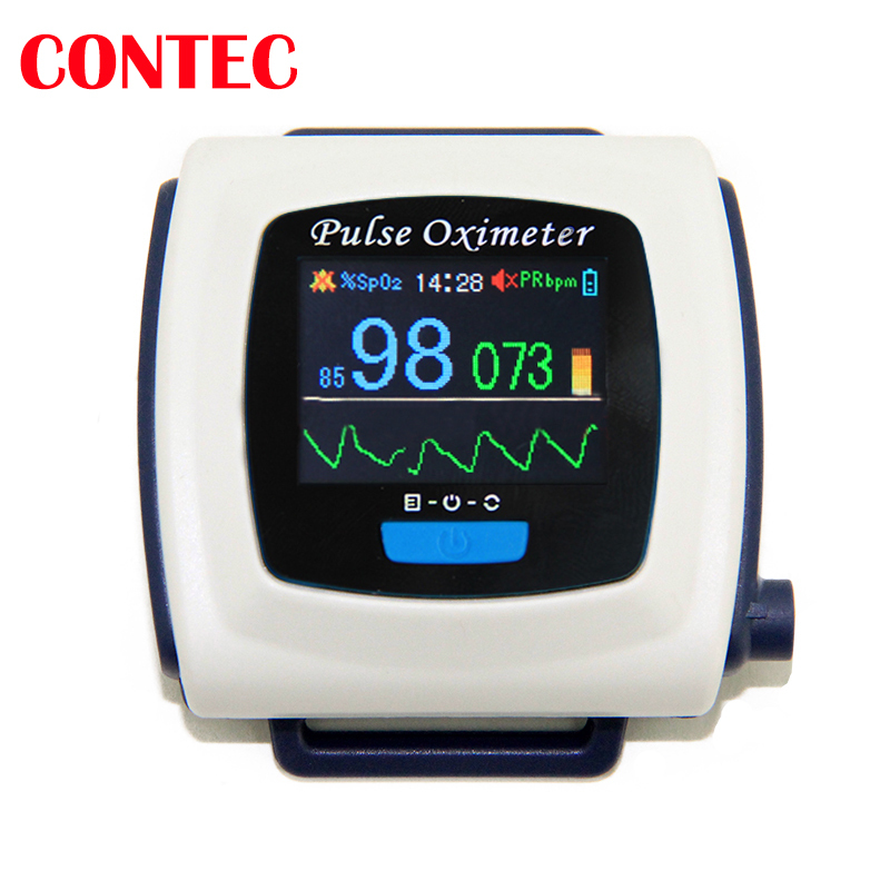 wrist Wearable Spo2 CMS 50F Pulse Oximeter Blood Oxygen Saturation test Monitor Health Medical Ox Oximetry Oxi Pulsioximetry(China (Mainland))