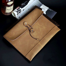2015 New Business Men's Envelope Package/Crazy Horse Wristlet File Package/Retro Briefcase(China (Mainland))