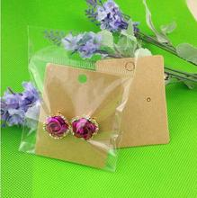 Buy 200pcs DIY Hand Made Blank kraft Earring tag Card 1 pair Earring Display Custom Logo moq: 1000 pcs Cost Extra Wholesale for $7.07 in AliExpress store