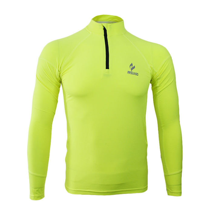 Autumn Winter Men Tights Compression Sports Base Layer Outdoor Running Fitness Cycling Long Sleeves Shirt Fleeces Thermal(China (Mainland))